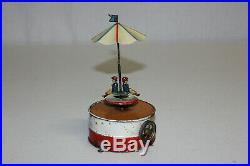 Antique German Tin Painted Steam Engine Accessory Merry Go Round Toy Ride L@@K