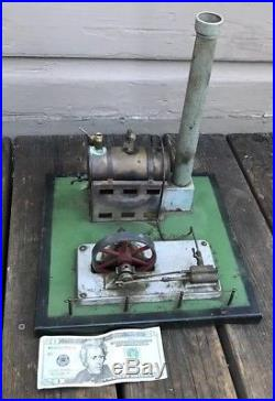 Antique Germany Early Horizontal Live Steam Engine & Boiler Power Plant