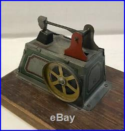 Antique Germany Tin HJL Wind Up Dynamo Motor & Tin Toy Steam Engine Toy Tools