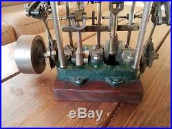 Antique Home Made Compound Launch Steam Engine Modeled After Stuart-Turner