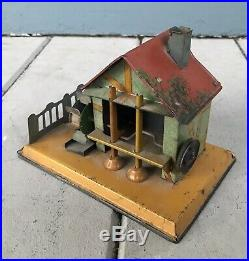 Antique House Water Wheel Mill Germany Live Steam Engine Tin Toy