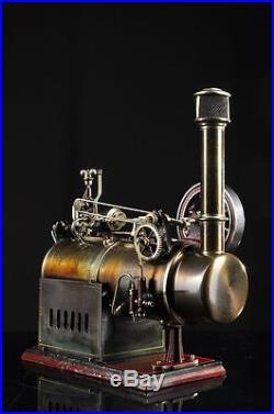 Antique J. Falk Lokomobile 456/5 Steam Engine approx. 1920