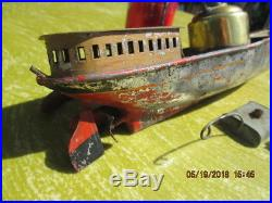 Antique Live Steam Engine Boat 14 Inches Maybe Plank