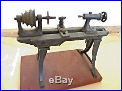 Antique Live Steam Engine Toy Lathe