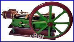 Antique Stationary Horizontal Steam Engine Pump Model