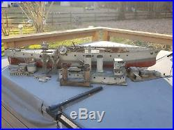 Antique Steel Tin Hull Live Steam Engine Model USS Maryland