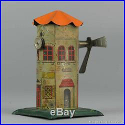#Antique Tin Toy# Pre War Germany Wind Mill For Steam Engine