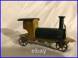 Antique Tin Toy Train Steam Engine Toy George Brown Circa 1880s