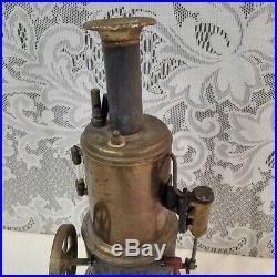 Antique Unmarked Brass Body Weeden Toy Steam Engine