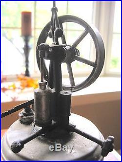 Antique Vertical Steam Engine