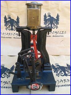 Antique Vintage Vertical Live Steam Engine Toy. Stuart Or Unknown Machine