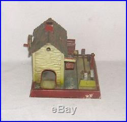 Antique WATER WHEEL HOUSE withHAMMERS. GERMAN STEAM ENGINE Accessory Toy. Marklin