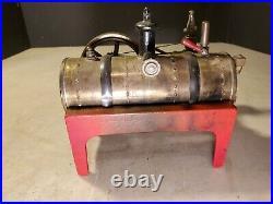 Antique WEEDEN Toy Steam Engine Cast Iron Base Nice Example! Original Patina