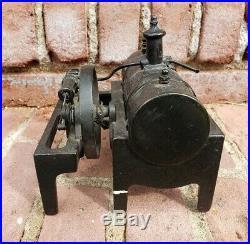 Antique Weeden Cast Iron & Brass Early Model Steam Engine & Boiler Toy USA