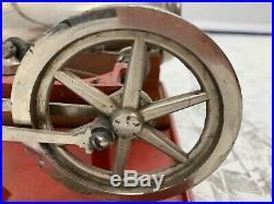 Antique Weeden New Bedford Steam Engine # 670 Red Cast Iron
