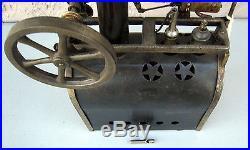 Antique Weeden Steam Engine No 32 Brass Boiler Star Cover Rare #BT5