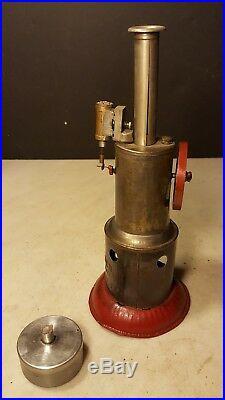 Antique Weeden Upright Toy Steam Engine Burner -Nice One