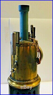 Antique Weeden Upright Toy Steam Engine Burner Rare & Nice One