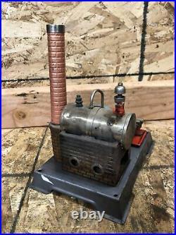 Antique Wilesco Model 6 Toy Model Steam Engine Working Display Hit Miss Engine