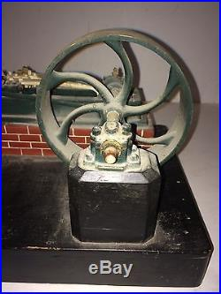 Antique Wooden Model Of A Steam Engine, Patent/salesman 1883