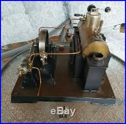 Antique huge German toy live steam engine model Doll 364/3 (not Wilesco Mamod)
