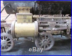 Antique live steam locomotive vintage live steam locomotive steam engine 3/4 Ga