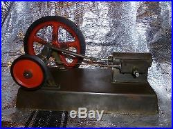 Antique steam engine live steam about 1900 Large