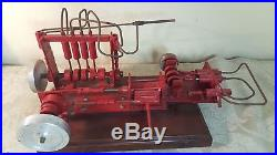 Antique steam engines (3) models on stand