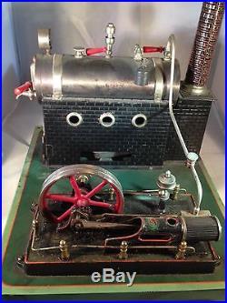 Antique very rare 1930s German Original DC (Doll & Co.) steam engine, good cond
