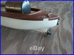 Atwood Steamcraft live steam engine Jungle boat African Queen toy. 1950s
