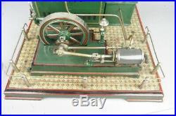 Awesome vintage Josef Falk live steam engine, prewar toy, 18in. High