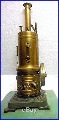 Bing Gebruder Mint Live Steam Engine 1908-1925 Working Brass & Iron Excellent