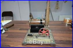 Bing Toy Steam Engine GBN Bavaria late 1800's to early 1900's Patent wood base
