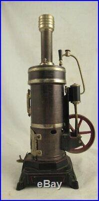 Bing Vertical Live Steam Engine Toy 1920s Vulcan Model 130/112