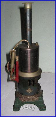Bing or GBN Live Steam Engine Germany Vertical Boiler Cast Iron baseprewar WWII