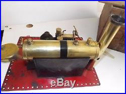 Bowman steam engine m122 m 122 boxed 1930's live steam toy near mint for age
