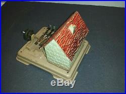 C1940s GERMAN FLEISCHMANN TIN WATER HAMMER MILL LIVE STEAM ENGINE ACCESSORY TOY