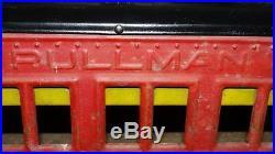 Ca1930's COR-COR TOYS Pressed Steel #4 STEAM ENGINE & PULLMAN PASSENGER CAR