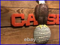 Cast Iron J. I. Case Eagle Steam Engine tractor Sign John Deere Toy Model L 930