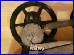 Central Scientific Steam Engine Model Demonstrator c1900 cast iron & brass wood