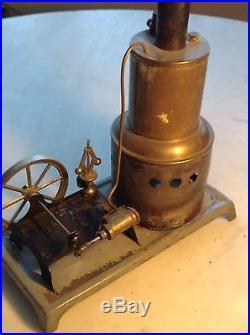 Circa 1900 Antique Horizontal Steam Engine Toy Hit Miss