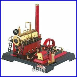 D21 Steam Engine Ready for Use, Complete Assembled, Black/Red