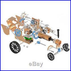 DIY Build-up Steam Engine Car Model Toy FR Engine Motor Classic Car Model Gift
