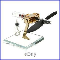 DIY Propeller Stirling Engine Motor Steam Power Heat Model Kits Science Toy