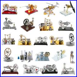 DIY Steam Power Motor Stirling Engine Model Physics Experiment Educational Toy