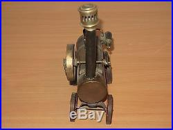 DOLL STEAM LOKOMBILE STEAM ENGINE DC on wheels um 1920 MEGA RARE