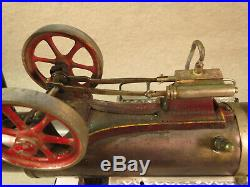 Doll horizontal overtype steam engine model 511/2 twin flywheels, early, lot ST8