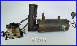 Early 1900's Rare Steel Yacht/stuart Live Steam Engine With Brass Accessories34