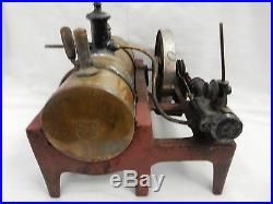 EARLY 1900s WEEDEN CAST IRON AND BRASS TOY STEAM ENGINE #14