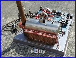 Early 1st Gen Wilesco D32 200 volt 1500w German version Live Steam engine. Video